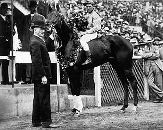 1913 Kentucky Derby - Donerail after winning the 1913 Kentucky Derby