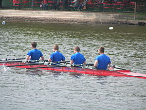 Bowloader - A coxed quad scull, with a bow cox