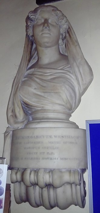 Richard Westmacott - His funerary bust of his wife Dorothy Margaret (died 1834) in St Nicholas' Church, Brighton.