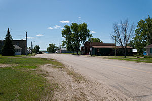 Douglas, North Dakota - Street in Douglas