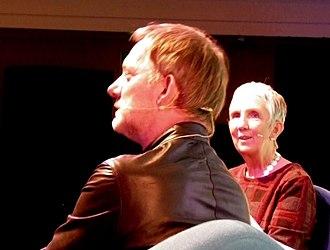 Douglas Henshall - Douglas Henshall and author Ann Cleeves at Bloody Scotland International Crime Writing Festival, 2017