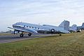 Douglas C-47A-60-DL Skytrain 43-30665 N47E LSideRear Dawn SNF 04April2014 (14583008331).jpg