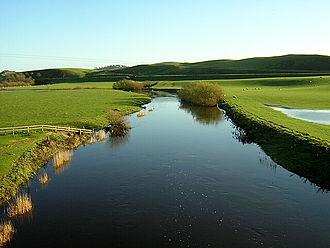 Douglas Water - Douglas Water downstream of Douglasmouth Bridge.