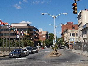 Fall River, Massachusetts - Downtown Fall River in 2007