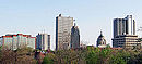 Downtown Fort Wayne, Indiana Skyline from Old Fort, May 2014