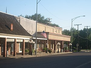 Madisonville, Texas - A portion of downtown Madisonville, Texas