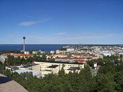View towards Tampere City Centre