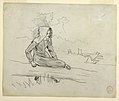 Drawing, Girl Seated on a Tree Trunk, 1879 (CH 18175271).jpg