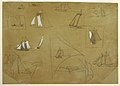 Drawing, Sketches of Sailing Boats, Cullercoats, England, 1881–82 (CH 18174281).jpg