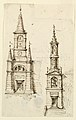 Drawing, Two Bell Towers, 1775 (CH 18355935).jpg