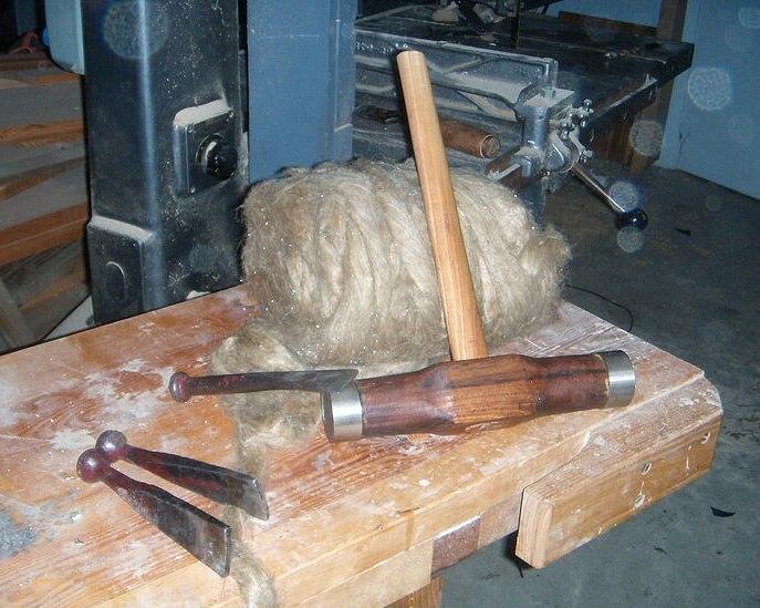 Drev och drevjärn samt träklubba 004