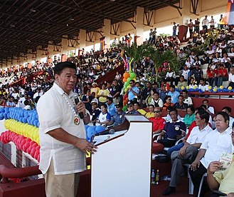 Franklin Drilon - Senator Drilon at speaking engagement in Zamboanga City.
