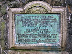 Photo of Robert Burns and Richard Brown bronze plaque
