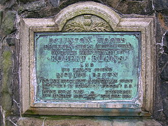 Richard Brown (captain) - The plaque from the Drukken Steps cairn