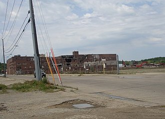 Dubuque Packing Company - The former Dubuque Packing Company plant being demolished in May 2006.