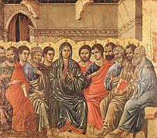 La Bonne Nouvelle du Christ annoncée à tous les Peuples! - Page 2 225px-Duccio_di_Buoninsegna_-_Pentecost_-_WGA06739