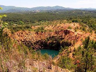 Burra Burra Mine (Tennessee) - Burra Burra Mine collapse site