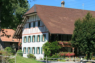 Düdingen - Farm house in Jetschwil hamlet