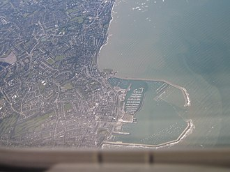Dún Laoghaire - Dún Laoghaire and port from the air.