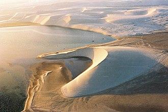 Khawr al Udayd - Sand dunes at Khawr al Udayd, photographed in 2004.