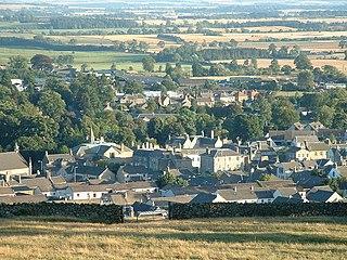 Duns town in Berwickshire, Scotland