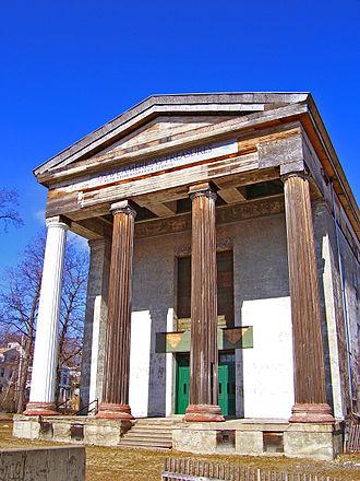 Dutch Reformed Church (Newburgh, New York) - the church in February 2006, with a restored column