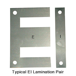 Magnetic core - Typical EI Lamination.