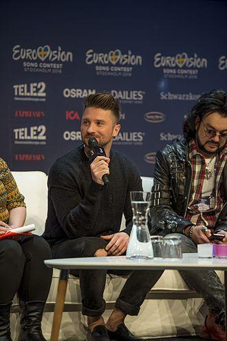 Sergey Lazarev - Lazarev at Eurovision Song Contest 2016.