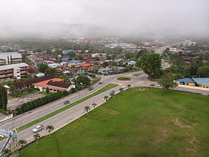 Keningau - Dual carriageway in downtown Keningau