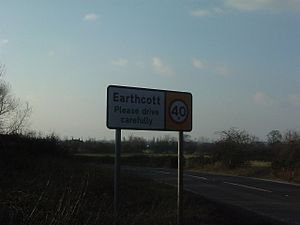 Earthcott - Earthcott sign in March 2006