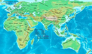8th century - Eastern Hemisphere at the beginning of the 8th Century.