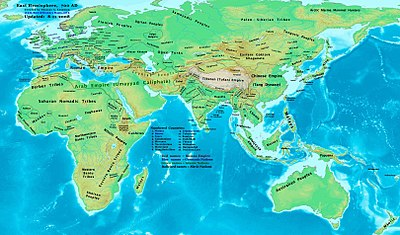 Map Of Asia In 700 Ad.List Of States During The Middle Ages Wikiwand