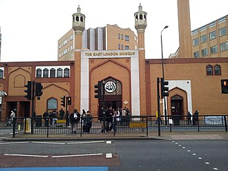 Islam in the United Kingdom - The East London Mosque was one of the first in Britain to be allowed to use loudspeakers to broadcast the adhan.