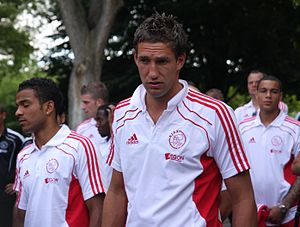 Maarten Stekelenburg - Stekelenburg with his Ajax teammates