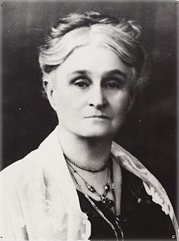 Edith Cowan (1861-1932) was elected to the West Australian Legislative Assembly in 1921 and was the first woman elected to any Australian Parliament. Edith Cowan.jpg