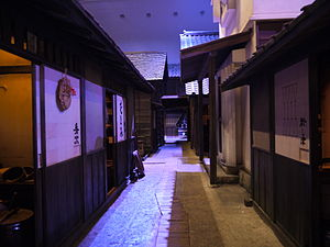 Edo society - Working-class district apartments (Fukagawa Edo Museum)