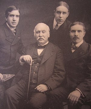 Edward Jay Allen - Edward Jay Allen and sons (photographed by Ernest Walter Histed in 1896)