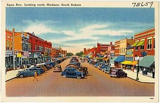 Madison, South Dakota - Image: Egan Ave. looking north, Madison, South Dakota (75659)
