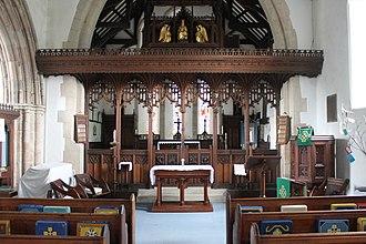 St Mary's Church, Beddgelert - Image: Eglwys y Santes Fair Beddgelert St Mary's church Gwynedd Wales 45