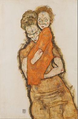 Egon Schiele - Mother and Child - Google Art Project