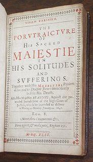 <i>Eikon Basilike</i> 1649 purported autobiography by Charles I of England