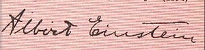 English: Albert Einstein's signature Hrvatski:...