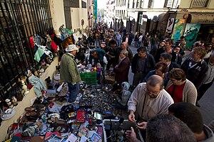 Flea market in Madrid.