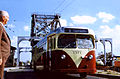 Electric Bus at IHNC Bridge ca 1957.jpg