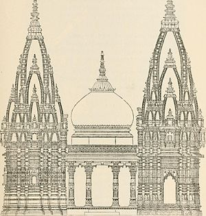 Kashi Vishwanath Temple - Elevation of the present temple structure