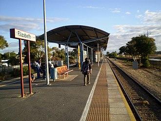 Gawler railway line - Elizabeth Interchange before its upgrade in 2011/12