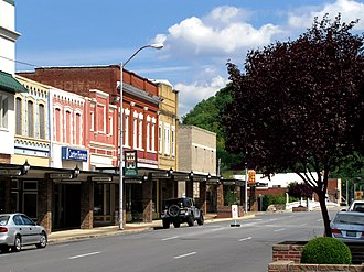 Carter County, Tennessee - Elk Avenue in Elizabethton