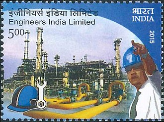Engineers India - A 2015 stamp dedicated to the 50th anniversary of Engineers India