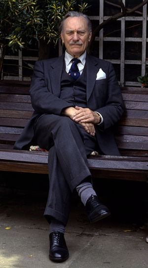 Enoch Powell - Portrait of Enoch Powell by Allan Warren in 1987.