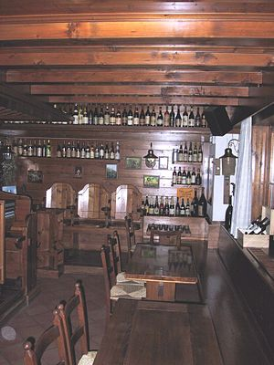 Enoteca - Interior view of an enoteca in Tambre (the province of Belluno), Italy